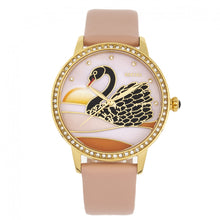 Load image into Gallery viewer, Bertha Grace MOP Leather-Band Watch - Apricot - BTHBR9004