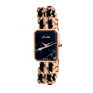 Bertha Eleanor Ladies Swiss Bracelet Watch - Rose Gold/Black - BTHBR5906