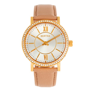 Bertha Lydia Leather-Band Watch