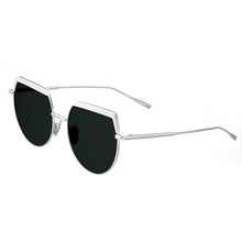 Load image into Gallery viewer, Bertha Callie Polarized Sunglasses - White/Black - BRSBR032GN