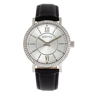 Bertha Lydia Leather-Band Watch - Black - BTHBR9501