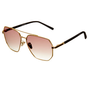 Bertha Brynn Polarized Sunglasses - Gold/Brown - BRSBR035BN