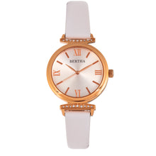 Load image into Gallery viewer, Bertha Jasmine Leather-Band Watch - White - BTHBR9605
