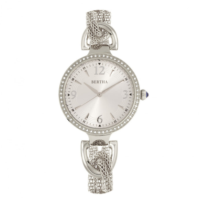 Bertha Sarah Chain-Link Watch w/Hanging Charm - BTHBR8901