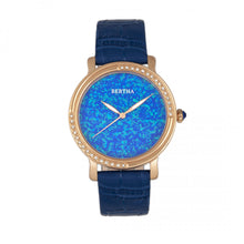 Load image into Gallery viewer, Bertha Courtney Opal Dial Leather-Band Watch - Blue - BTHBR7905