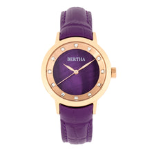 Load image into Gallery viewer, Bertha Cecelia Leather-Band Watch - Purple  - BTHBR7506