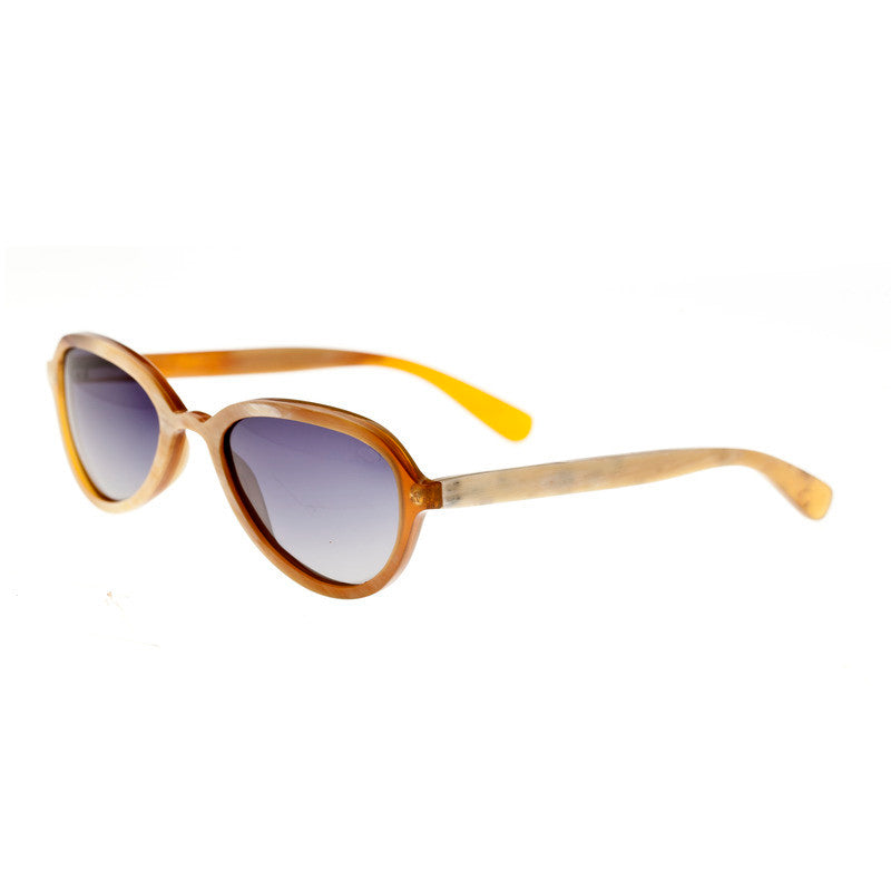 Bertha Alexa Buffalo-Horn Polarized Sunglasses