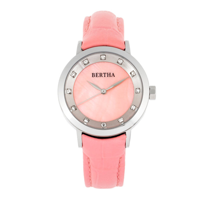 Bertha Cecelia Leather-Band Watch - BTHBR7502