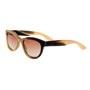 Bertha Carly Buffalo-Horn Polarized Sunglasses