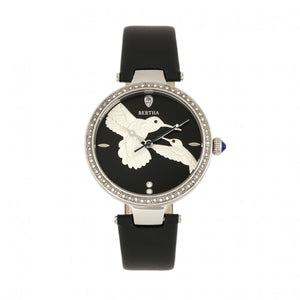 Bertha Nora Leather-Band Watch - Black - BTHBR8504