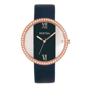 Bertha Ingrid Leather-Band Watch