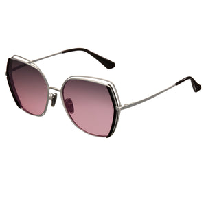 Bertha Remi Polarized Glasses - Silver/Purple - BRSBR034PK