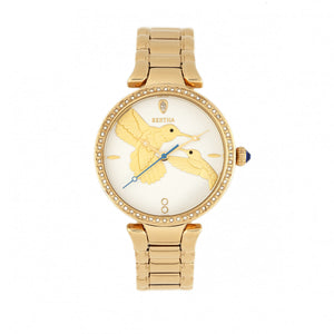 Bertha Nora Bracelet Watch - White/Gold - BTHBR8502