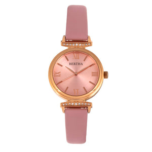 Bertha Jasmine Leather-Band Watch