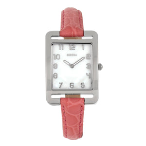 Bertha Marisol Swiss MOP Leather-Band Watch - Coral - BTHBR6902