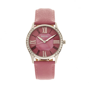 Bertha Sadie Mother-of-Pearl Leather-Band Watch - Pink - BTHBR8402