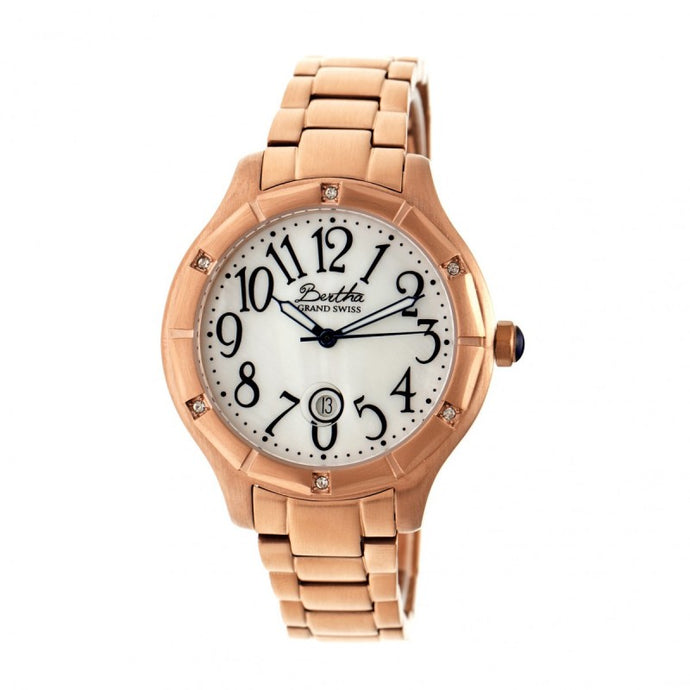 Bertha Jaclyn MOP Ladies Swiss Bracelet Watch - BTHBR4805