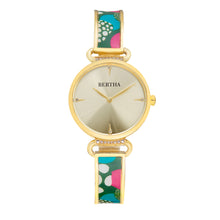 Load image into Gallery viewer, Bertha Katherine Enamel-Designed Bracelet Watch - Green - BTHBS1303