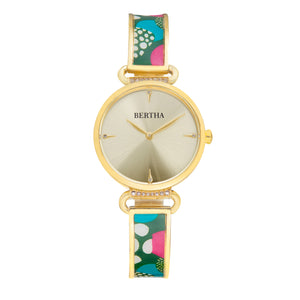 Bertha Katherine Enamel-Designed Bracelet Watch - Green - BTHBS1303
