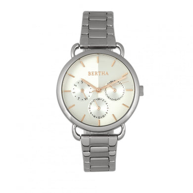 Bertha Gwen Bracelet Watch w/Day/Date - Silver - BTHBR8301