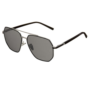 Bertha Brynn Polarized Sunglasses - Silver/Black - BRSBR035BK