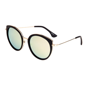 Bertha Reese Polarized Sunglasses - Black/Gold-Green - BRSBR044GD