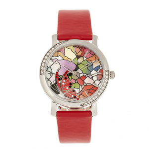 Bertha Vanessa Leather Band Watch - Red - BTHBR8702