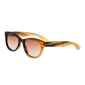 Bertha Carly Buffalo-Horn Polarized Sunglasses - Black-Tan/Brown - BRSBR009M