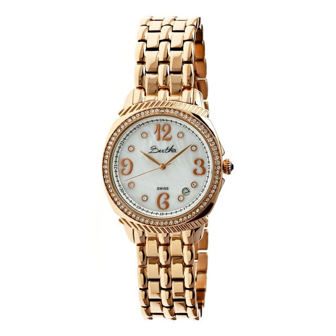 Bertha Samantha MOP Ladies Swiss Bracelet Watch - BTHBR3905