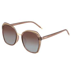 Bertha Jade Polarized Sunglasses - Brown/Brown - BRSBR042MA