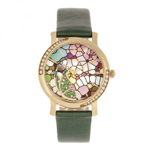 Bertha Vanessa Leather Band Watch - Green - BTHBR8704