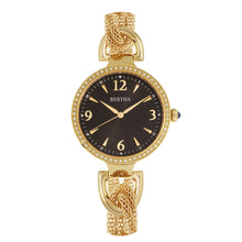 Load image into Gallery viewer, Bertha Sarah Chain-Link Watch w/Hanging Charm - Gold/Black - BTHBR8903
