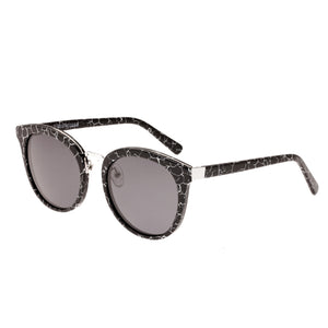 Bertha Lucy Polarized Sunglasses - Black Marble/Black  - BRSBR022SB
