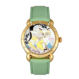 Bertha Vivica MOP Leather-Band Ladies Watch
