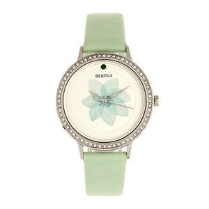 Bertha Delilah Leather-Band Watch