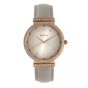 Bertha Allison Leather-Band Watch