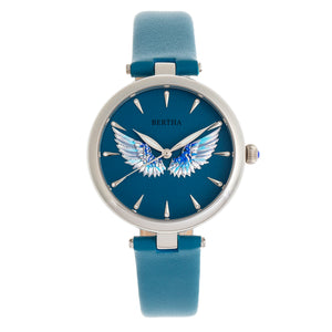 Bertha Micah Leather-Band Watch - Teal - BTHBR9404