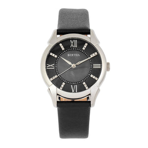 Bertha Ida Mother-of-Pearl Leather-Band Watch