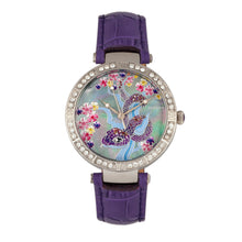 Load image into Gallery viewer, Bertha Mia Mother-Of-Pearl Leather-Band Watch - Purple - BTHBR7402