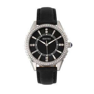 Bertha Clara Leather-Band Watch - Black - BTHBR8101