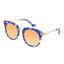 Load image into Gallery viewer, Bertha Aaliyah Polarized Sunglasses - Blue Tortoise/Rose Gold - BRSBR023RG