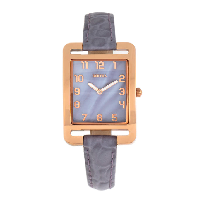 Bertha Marisol Swiss MOP Leather-Band Watch - BTHBR6905