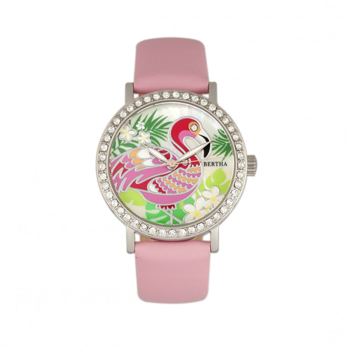 Bertha Luna Mother-Of-Pearl Leather-Band Watch - BTHBR7702