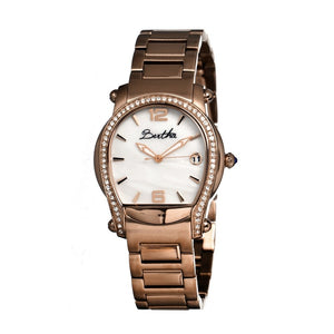 Bertha Fiona MOP Ladies Bracelet Watch w/ Date