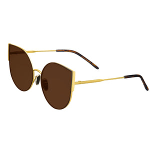Bertha Logan Polarized Sunglasses - Gold/Brown - BRSBR036GD