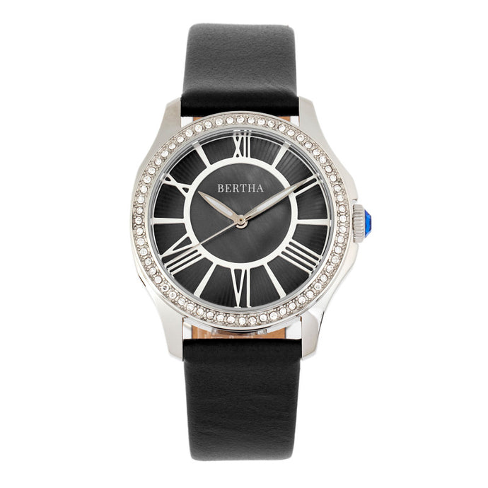 Bertha Donna Mother-of-Pearl Leather-Band Watch - BTHBR9801