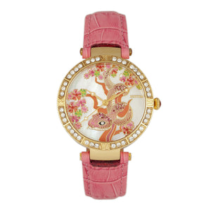 Bertha Mia Mother-Of-Pearl Leather-Band Watch - Pink  - BTHBR7404