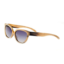 Load image into Gallery viewer, Bertha Taylor Buffalo-Horn Polarized Sunglasses - Vanilla/Black - BRSBR001ZC