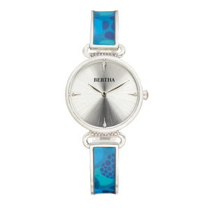 Bertha Katherine Enamel-Designed Bracelet Watch - Blue - BTHBS1302