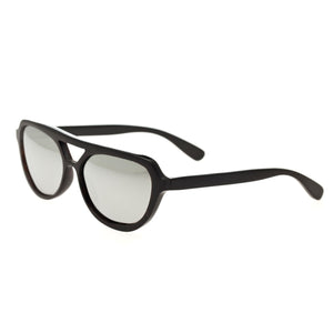 Bertha Brittany Buffalo-Horn Polarized Sunglasses - Black/Silver - BRSBR005B